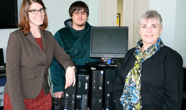 Misericordia University recently donated several refurbished personal computers, monitors and keyboards to the United Cerebral Palsy of Northeastern Pennsylvania Children's Center in Clarks Summit for children and adults in the program.