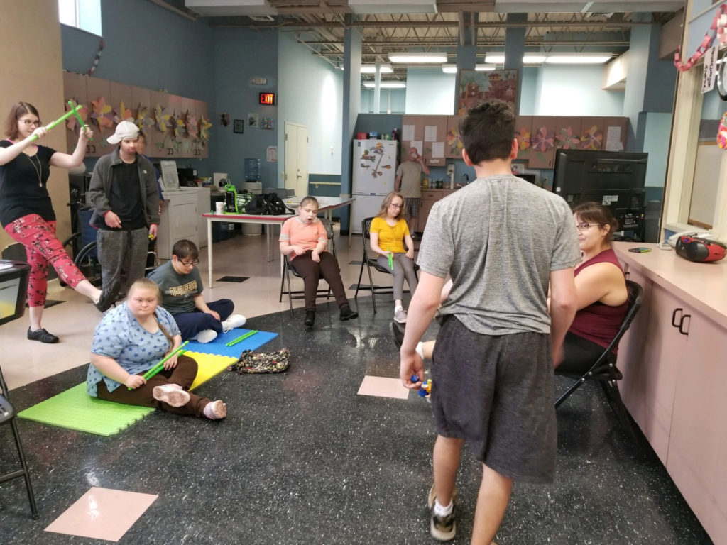 Adult Day training program exercising on May 29, 2019.