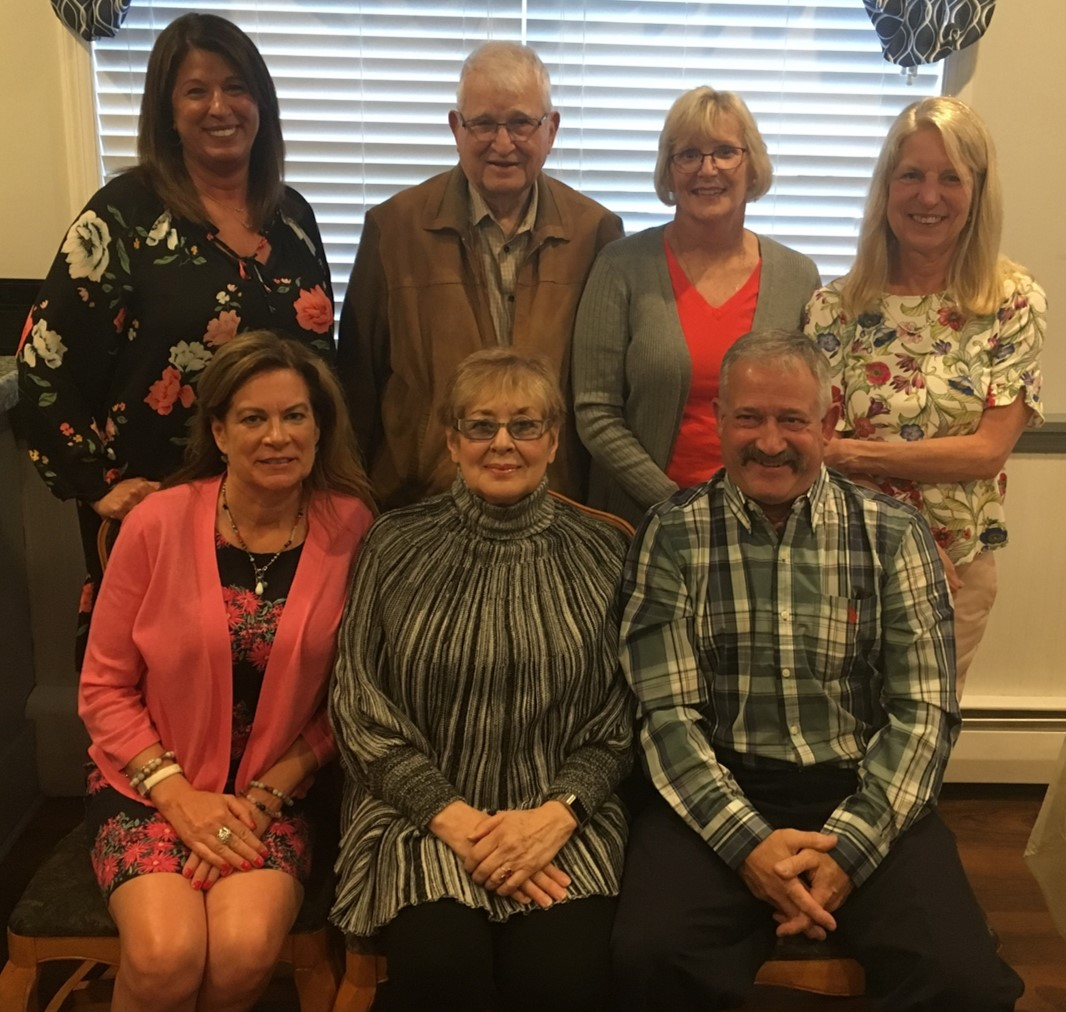 picture of board members at staff appreciation dinner, june 2019.