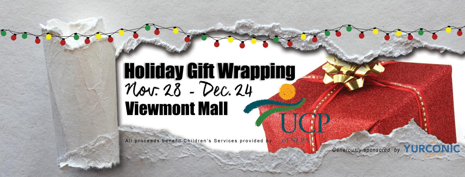 Join us for holiday gift wrapping from Nov 29 to December 24 at the Viewmont Mall in Scranton.
